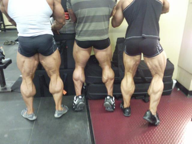 large calves bodybuilder