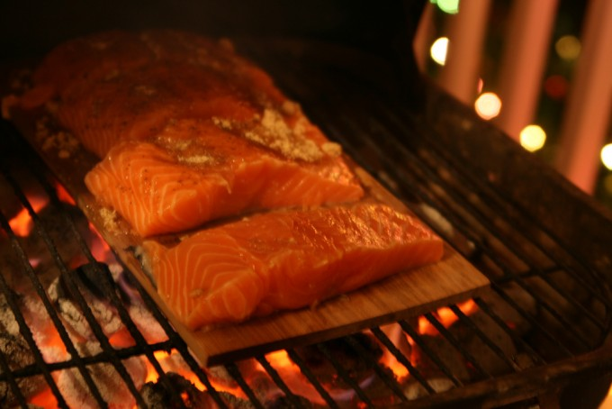 salmon on bbq
