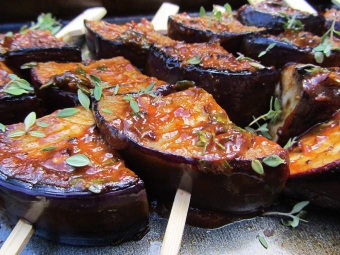 jamaican spiced bbq aubergine