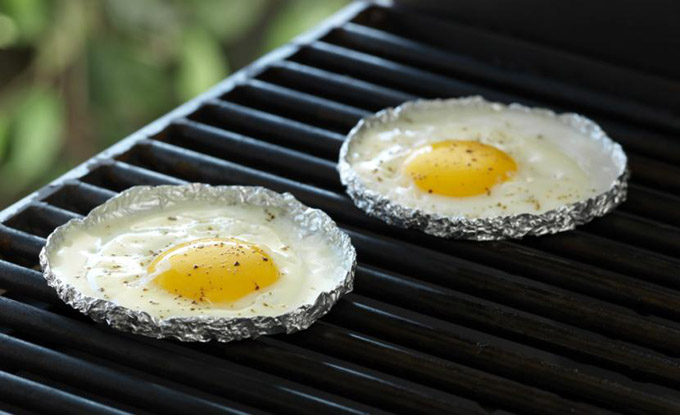 eggs cooked on bbq